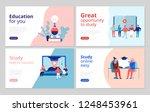 online education 4 flat concept ... | Shutterstock .eps vector #1248453961