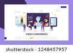 video conference landing page...