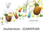 realistic alcoholic drinks... | Shutterstock .eps vector #1248459184
