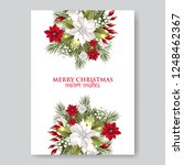 christmas party wreath... | Shutterstock .eps vector #1248462367