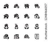 home risk   insurance icons  ... | Shutterstock .eps vector #1248466057
