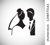 maried couple icon on white... | Shutterstock .eps vector #1248470161