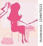 woman in beauty salon | Shutterstock . vector #1248470221