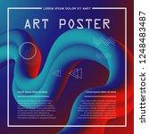 3d abstract flow fluid shapes.... | Shutterstock .eps vector #1248483487