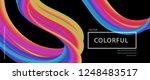 banner 3d abstract flow fluid... | Shutterstock .eps vector #1248483517