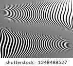 optical art background. wave... | Shutterstock .eps vector #1248488527