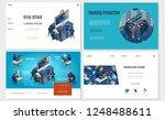 isometric hacker activity... | Shutterstock .eps vector #1248488611