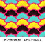 asian style seamless pattern...   Shutterstock .eps vector #1248490381