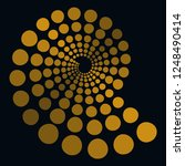 Translucent Spiral Of Dots In...