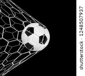 realistic soccer ball or... | Shutterstock . vector #1248507937