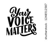 your voice matters abstract... | Shutterstock .eps vector #1248512587