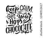 hot chocolate hand lettering... | Shutterstock .eps vector #1248512617