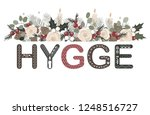 hygge lettering with floral... | Shutterstock .eps vector #1248516727
