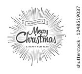 merry christmas vector text... | Shutterstock .eps vector #1248519037