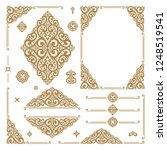 gold and white luxury vector... | Shutterstock .eps vector #1248519541