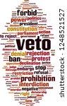 veto word cloud concept. vector ... | Shutterstock .eps vector #1248521527