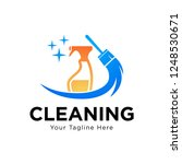 clean and housekeeping service... | Shutterstock .eps vector #1248530671