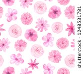 seamless pattern with hand... | Shutterstock . vector #1248531781