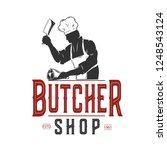 Butcher Shop Vintage Label...