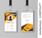 creative id card template with...   Shutterstock .eps vector #1248551677
