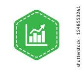 financial graph icon emblem ...