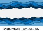 blue water waves layered art... | Shutterstock . vector #1248563437