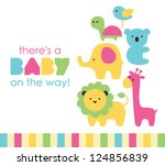 baby shower design. vector... | Shutterstock .eps vector #124856839
