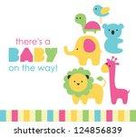 baby shower design. vector illustration | Shutterstock vector #124856839