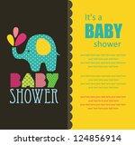 baby shower design. vector... | Shutterstock .eps vector #124856914