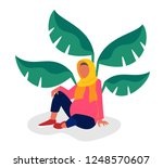 pregnant woman in traditional... | Shutterstock .eps vector #1248570607