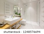 interior of a hotel bathroom | Shutterstock . vector #1248576694