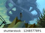 2d illustration. abstract... | Shutterstock . vector #1248577891