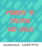 word writing text powered by...   Shutterstock . vector #1248579751