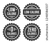 low or zero calorie product... | Shutterstock .eps vector #1248586537
