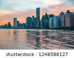 new york city panorama with and ... | Shutterstock . vector #1248588127