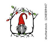 vector christmas card with hand ...   Shutterstock .eps vector #1248589447