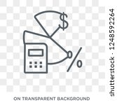 budget accounting icon. trendy... | Shutterstock .eps vector #1248592264