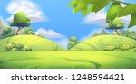 nature landscape. park. 3d... | Shutterstock .eps vector #1248594421