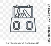 toolbox icon. trendy flat... | Shutterstock .eps vector #1248598534