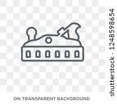 jack plane icon. trendy flat... | Shutterstock .eps vector #1248598654