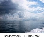 Dramatic Clouds Over The Sea I...