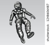 astronaut in spacesuit on space.... | Shutterstock .eps vector #1248606487