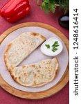 traditional uzbek fried...   Shutterstock . vector #1248616414