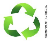 green recycle sign  with...   Shutterstock . vector #12486226