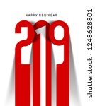 happy new year 2019 text cut... | Shutterstock .eps vector #1248628801