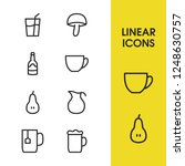 food icons set with saucer ... | Shutterstock .eps vector #1248630757