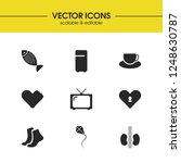lifestyle icons set with foot ... | Shutterstock .eps vector #1248630787