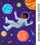 spaceman at open space floating ... | Shutterstock .eps vector #1248630934
