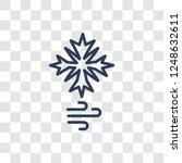 blizzard icon. trendy linear...   Shutterstock .eps vector #1248632611