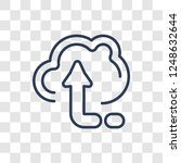 upload icon. trendy linear... | Shutterstock .eps vector #1248632644